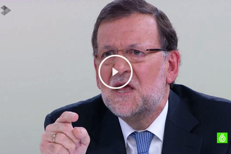 Mariano Rajoy durante el cara cara con Pedro Sánchez.