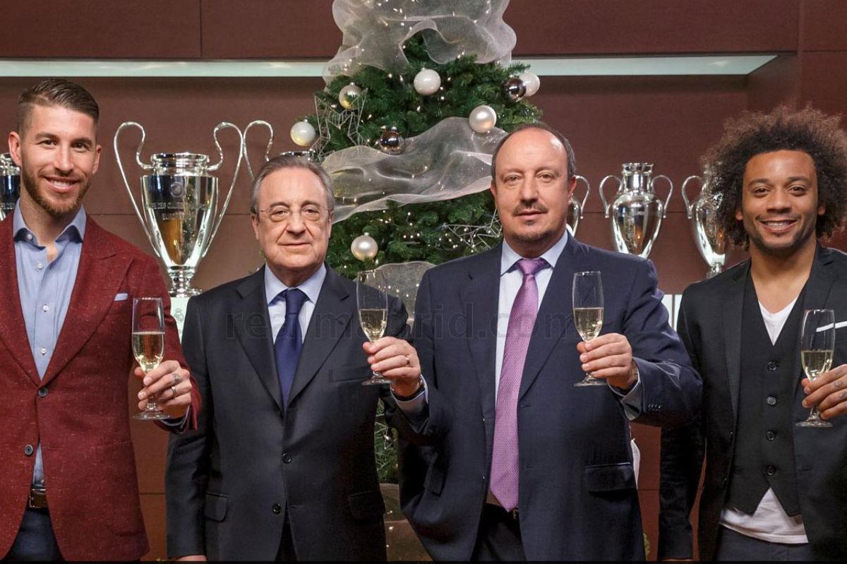 El Real Madrid felicitó la Navidad. (Imagen: realmadrid.com)