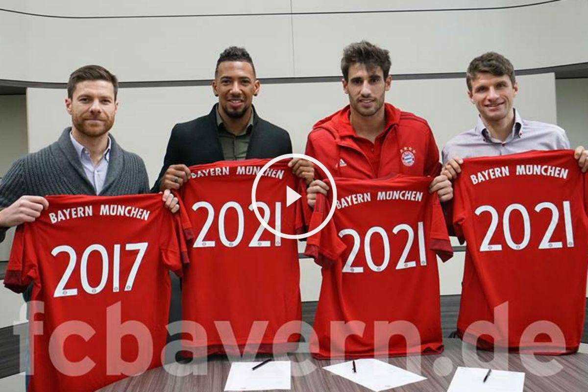 Alonso, Boateng, Martínez y Müller, renovados con el Bayern.