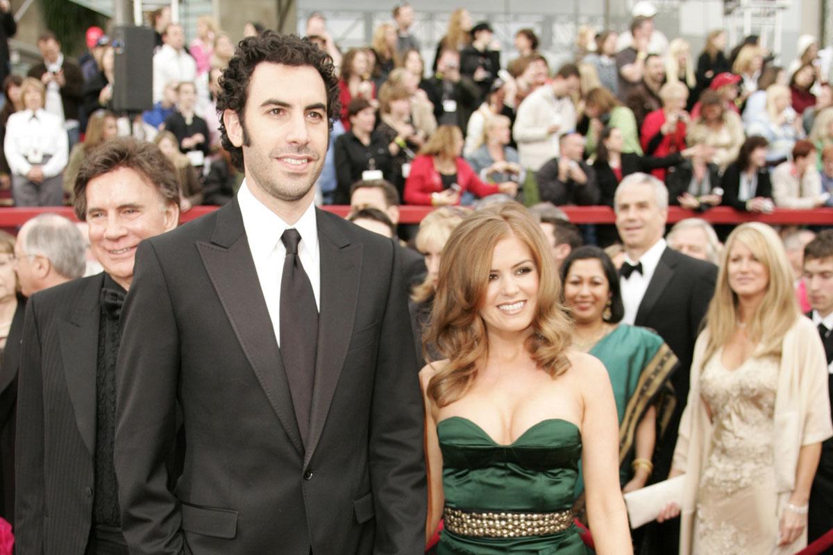 Sacha Baron Cohen e Isla Fisher. (Foto: AFP)