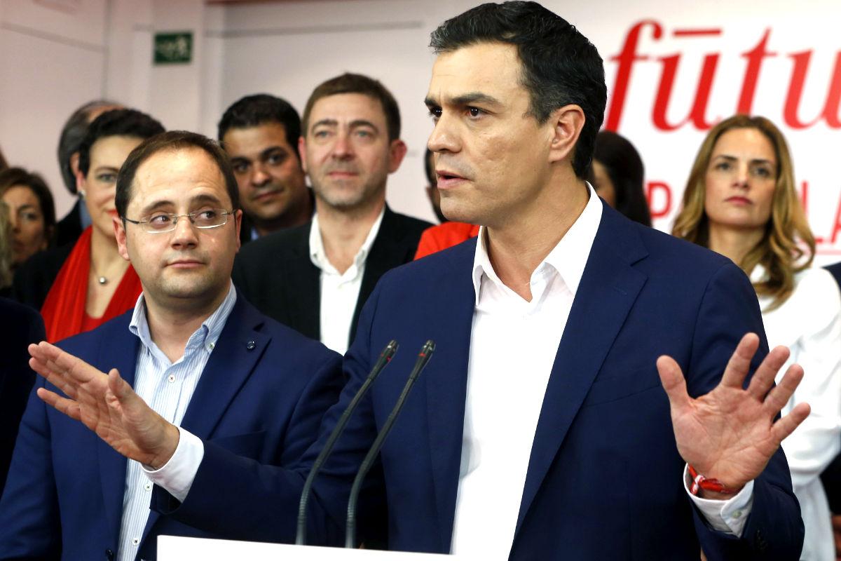 Pedro Sánchez durante su comparecencia ante la prensa (Foto: Efe).