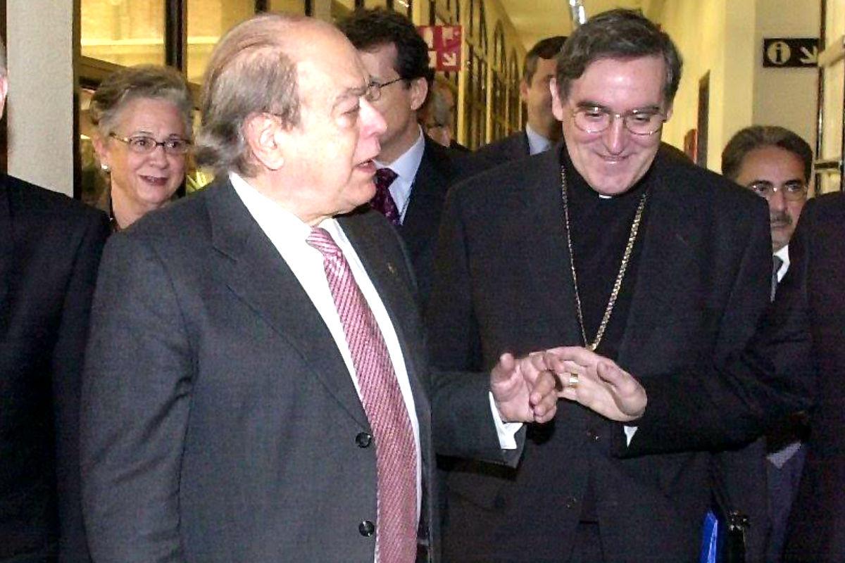 Jordi Pujol y Lluís Martínez Sistach en una imagen de 2002 (Foto: Efe).