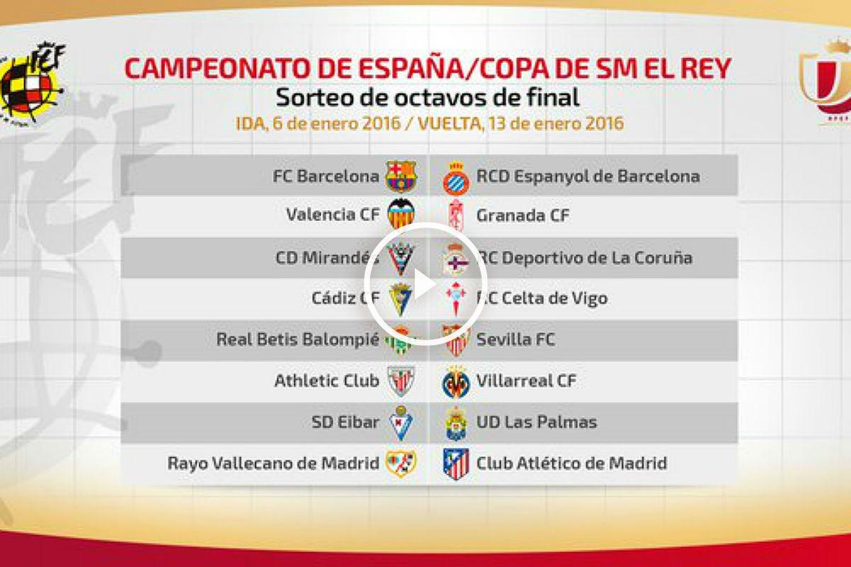 Barcelona-Espanyol, Rayo-Atlético y Betis-Sevilla, en un sorteo de ...