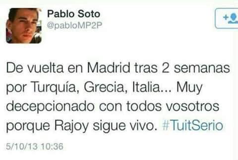 Tuti de Pablo Soto contra Rajoy