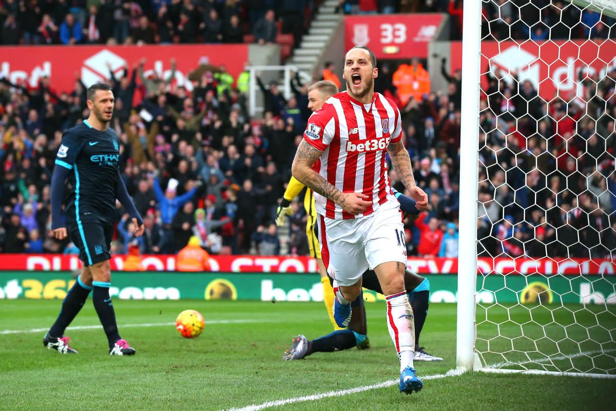 El City cayó derrotado en su visita al Stoke City (Getty)