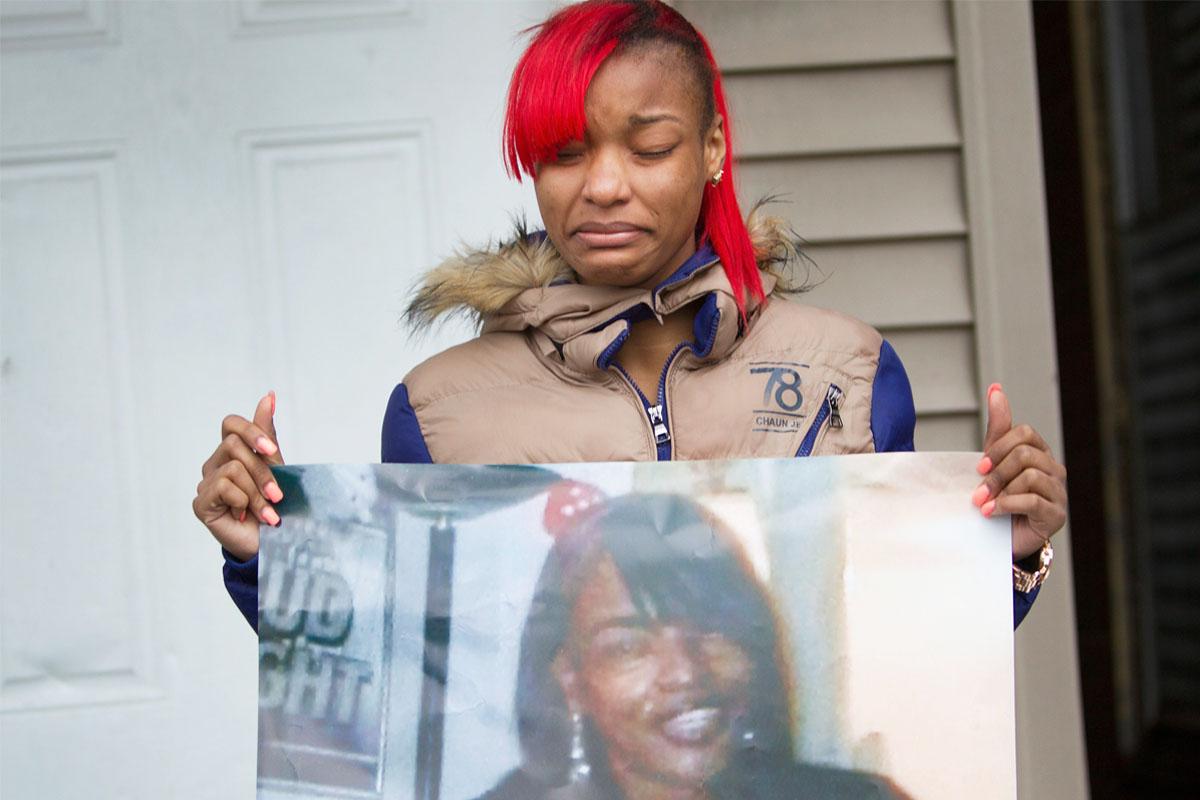 LaTonya Jones, hija de la fallecida. (Foto: AFP)