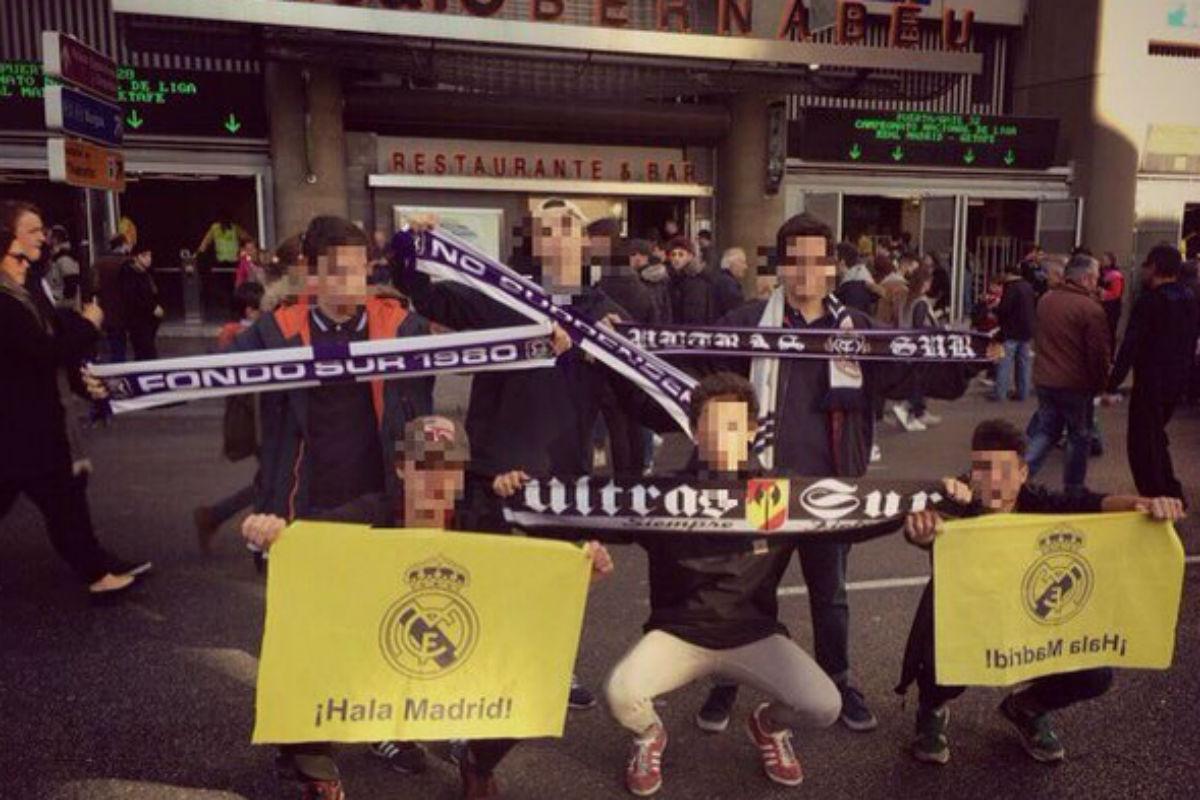 Los Ultras Sur enviados para gritar «¡Florentino, dimisión!».