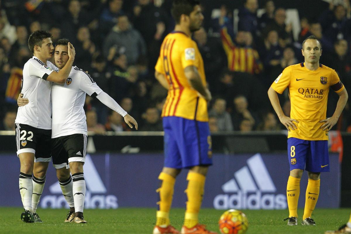 El Valencia logró empatar contra el Barcelona (AFP)