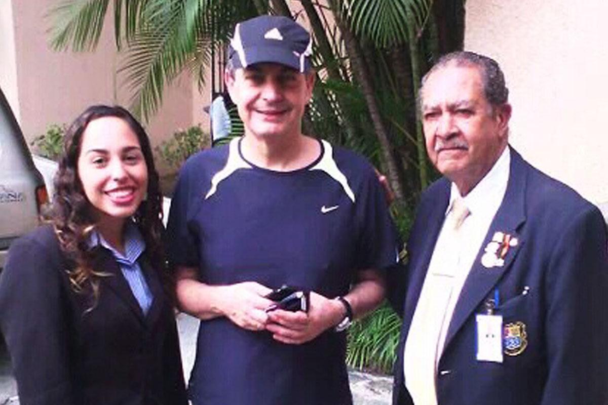 Zapatero, en el Country Club de Caracas.