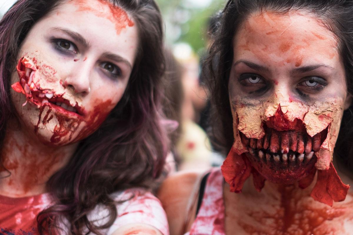 Marcha zombi en Río de Janeiro. (Foto: AFP)