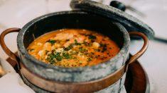 Receta de Sopa clara de merluza y arroz
