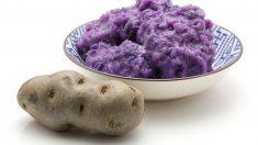Receta de Puré de patatas violetas y manzana