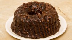 Receta de Bundt Cake doble chocolate