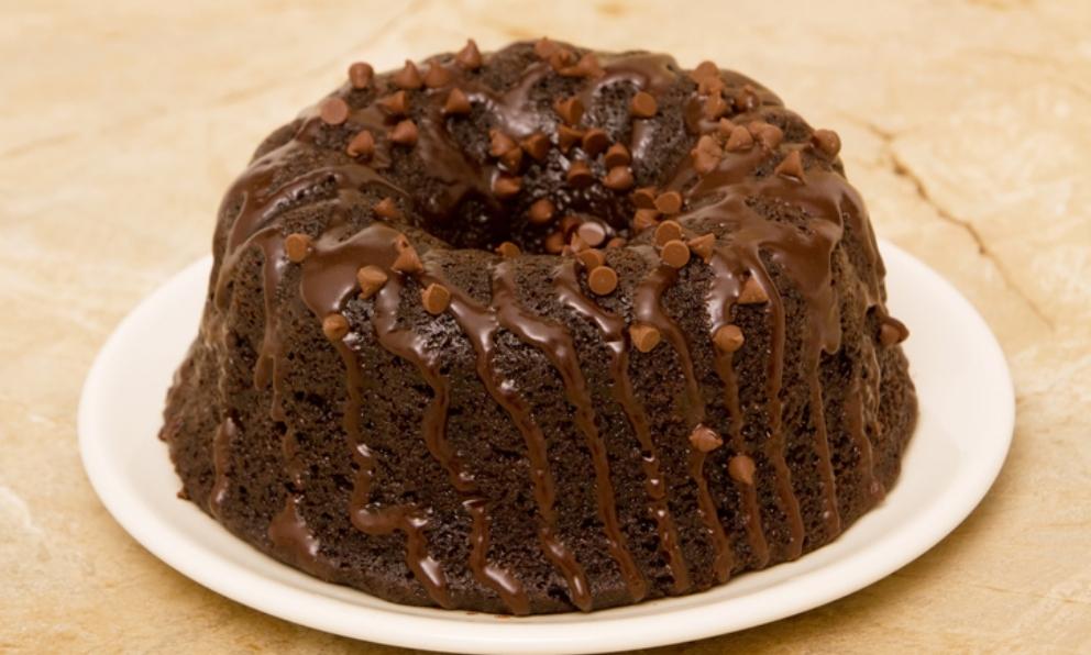 Receta de Bundt Cake doble chocolate