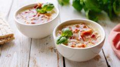 Receta de Sopa de patata con bacon