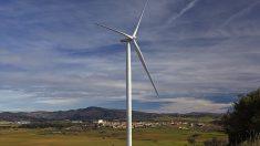 Aerogenerador de Acciona en el parque eólico de Punta Palmeras.