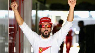 Alonso, en su última temporada con Ferrari.