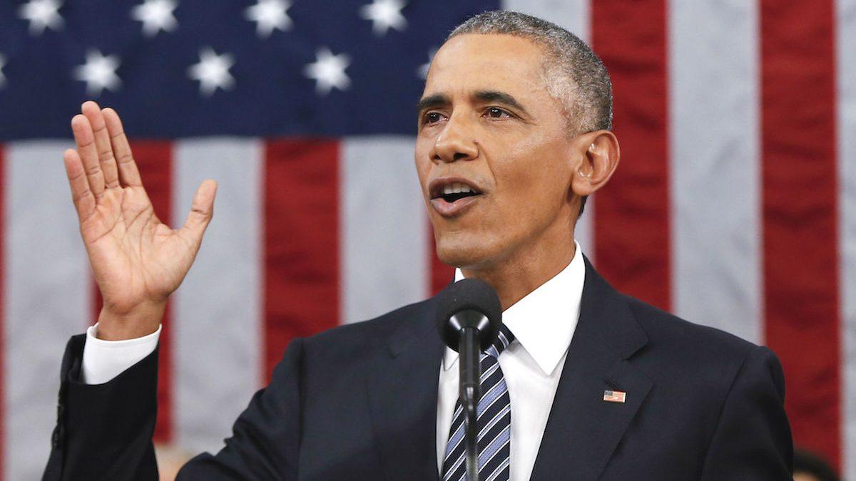 Barack Obama durante un mitin (Foto: GETTY)