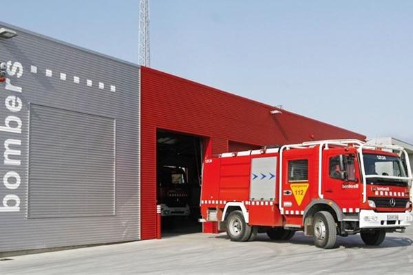 Parque de bomberos de la Generalitat.