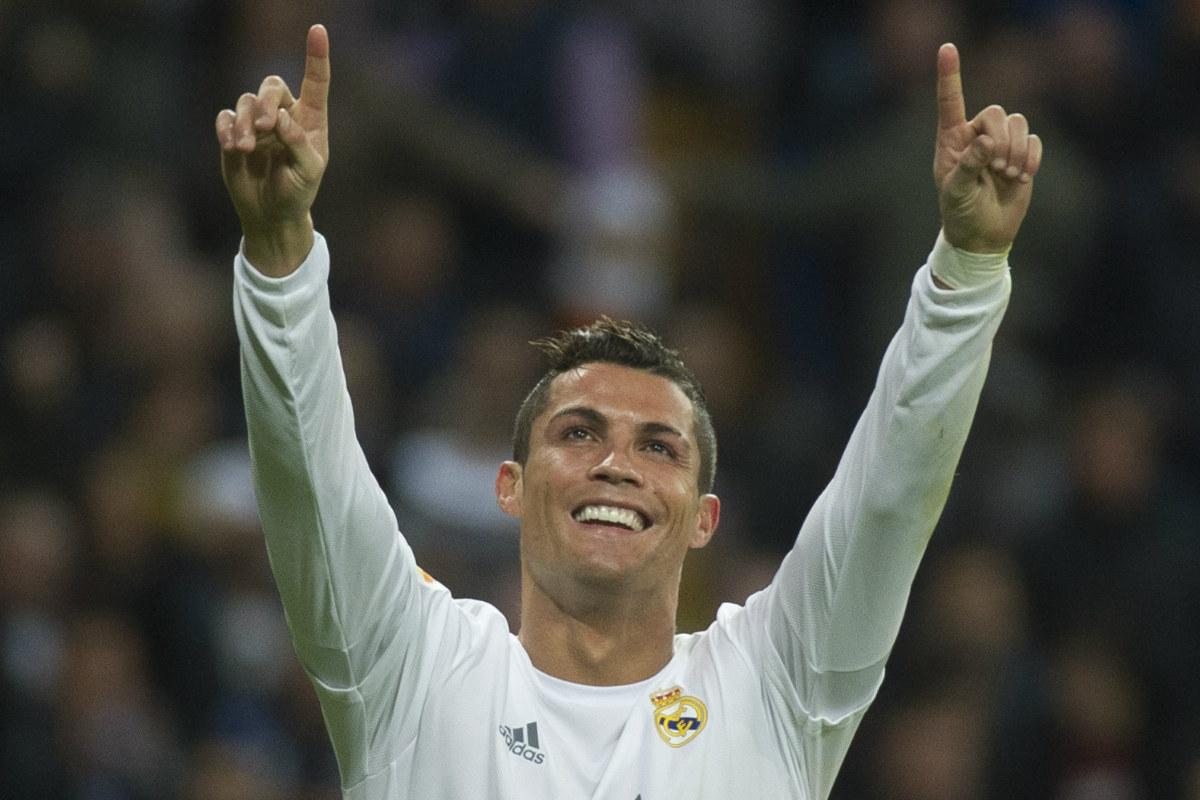 Cristiano celebra el octavo gol de la temporada contra el Espanyol. (AFP)