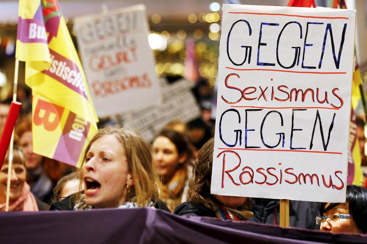 Protestas en la ciudad de Colonia contra las agresiones sexuales (Foto: Reuters)