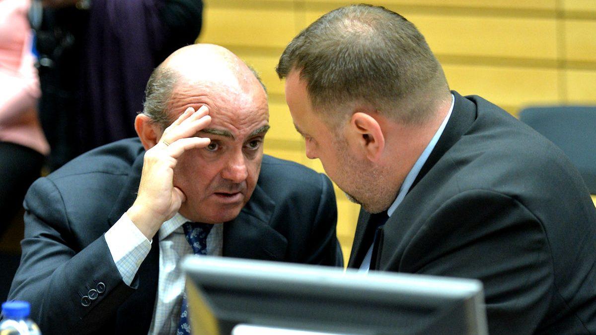El ministro de Economía, Luis De Guindos, en una reunión del Eurogrupo. (Foto: Getty)