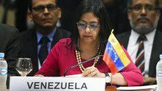 La canciller de Exteriores, Delcy Rodríguez (Foto: AFP)