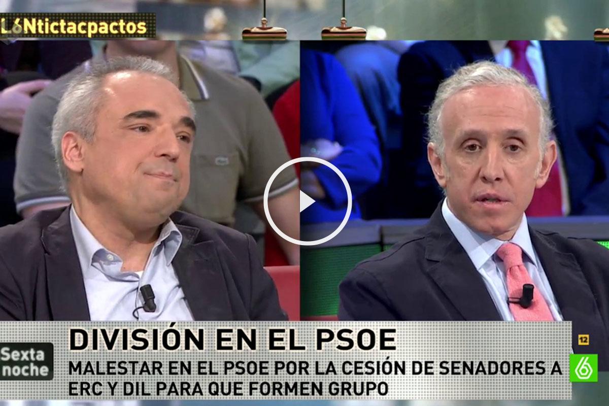 Rafael Simancas y Eduardo Inda, en La Sexta Noche