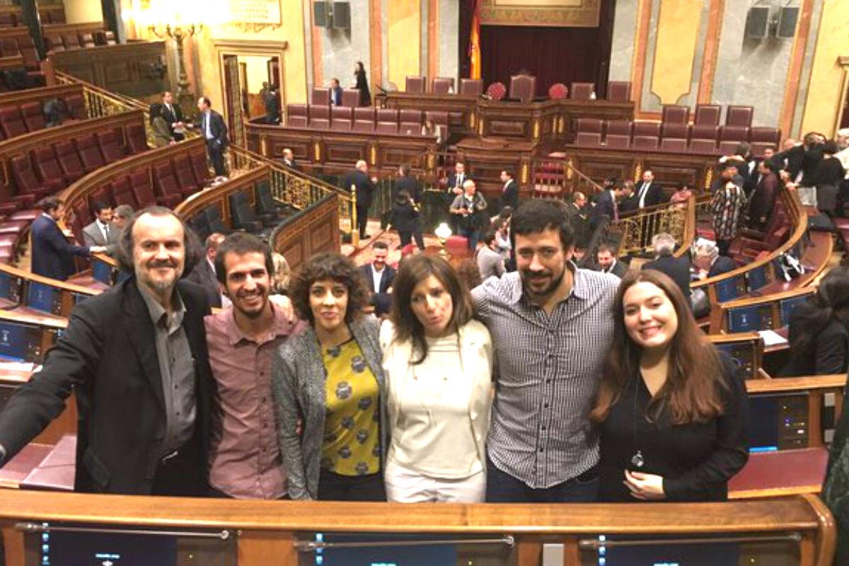Los diputados de En Marea en el Congreso (FOTO: TWITTER EN MAREA)