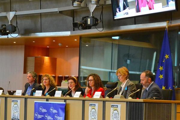 Los ponentes del seminario celebrado esta semana en el Parlamento Europeo. (Foto: Fernán González)