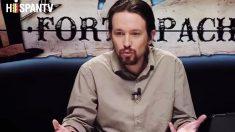 El líder de Podemos, Pablo Iglesias, durante la presentación del programa Fort Apache en Hispan TV.