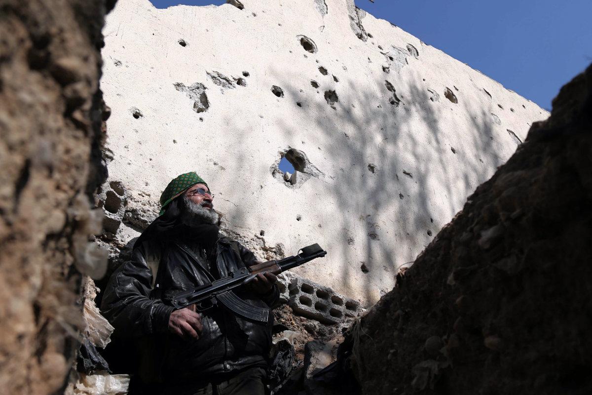 Combatiente yihadista en Siria