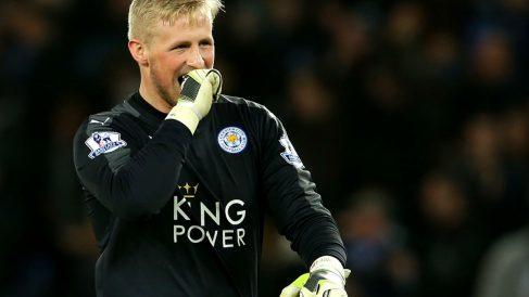 Kasper Schmeichel es el portero del Leicester. (Getty)