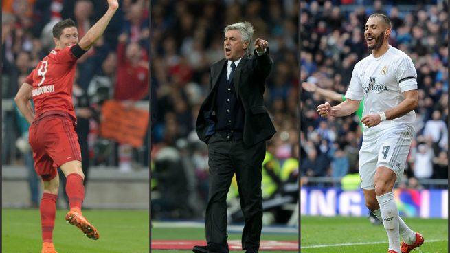 Lewandowski-Ancelotti-Benzema