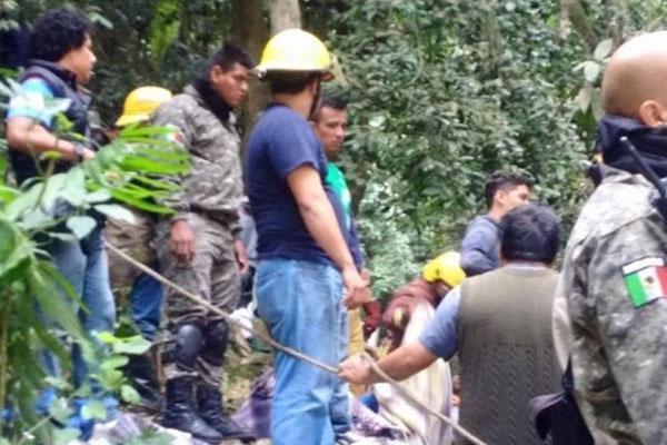 Imagen tras el accidente de autobús en México (EP)