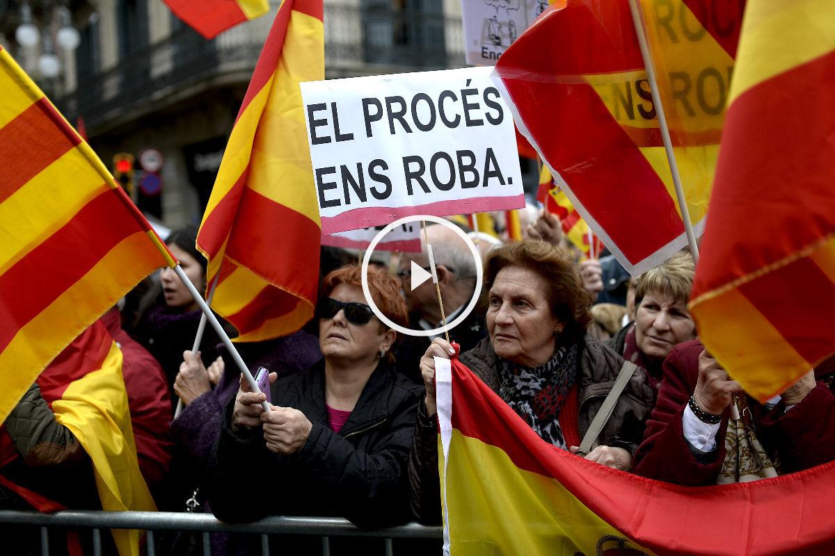 PROTESTA CATALUÑA PLAY