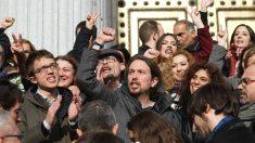 Pablo Iglesias y sus colaboradores (Foto: GETTY)