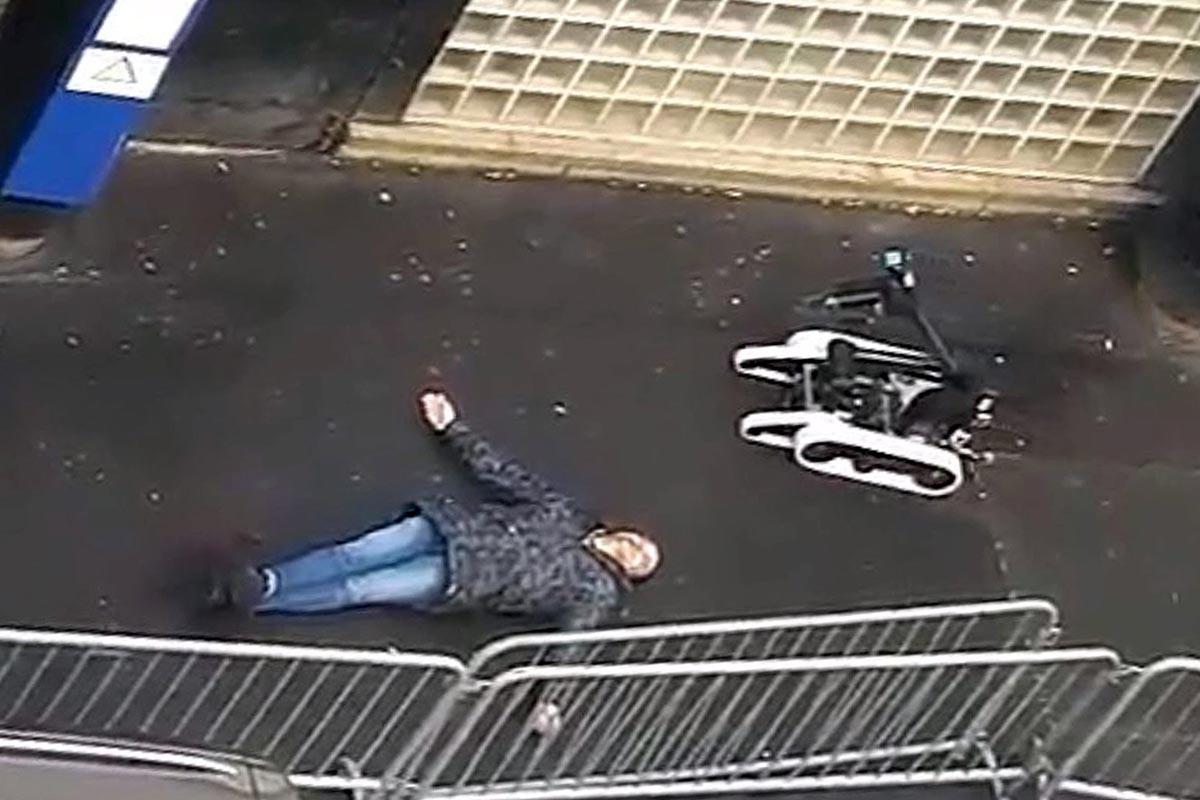 El hombre abatido tras intentar atacar una comisaría en París (Reuters)
