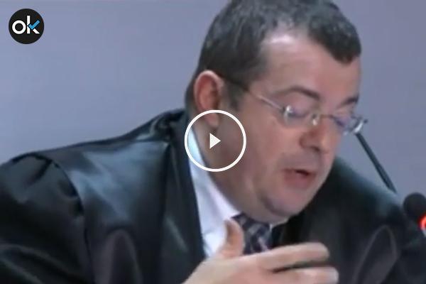 Manuel González Peeters durante su intervención en el tribunal.