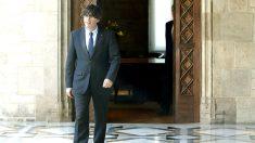 El nuevo presidente catalán, Carles Puigdemont, en el Palau de la Generalitat (Foto: Efe)