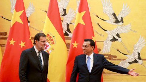Mariano Rajoy junto al primer ministro chino, Li Keqiang (Foto: GETTY).