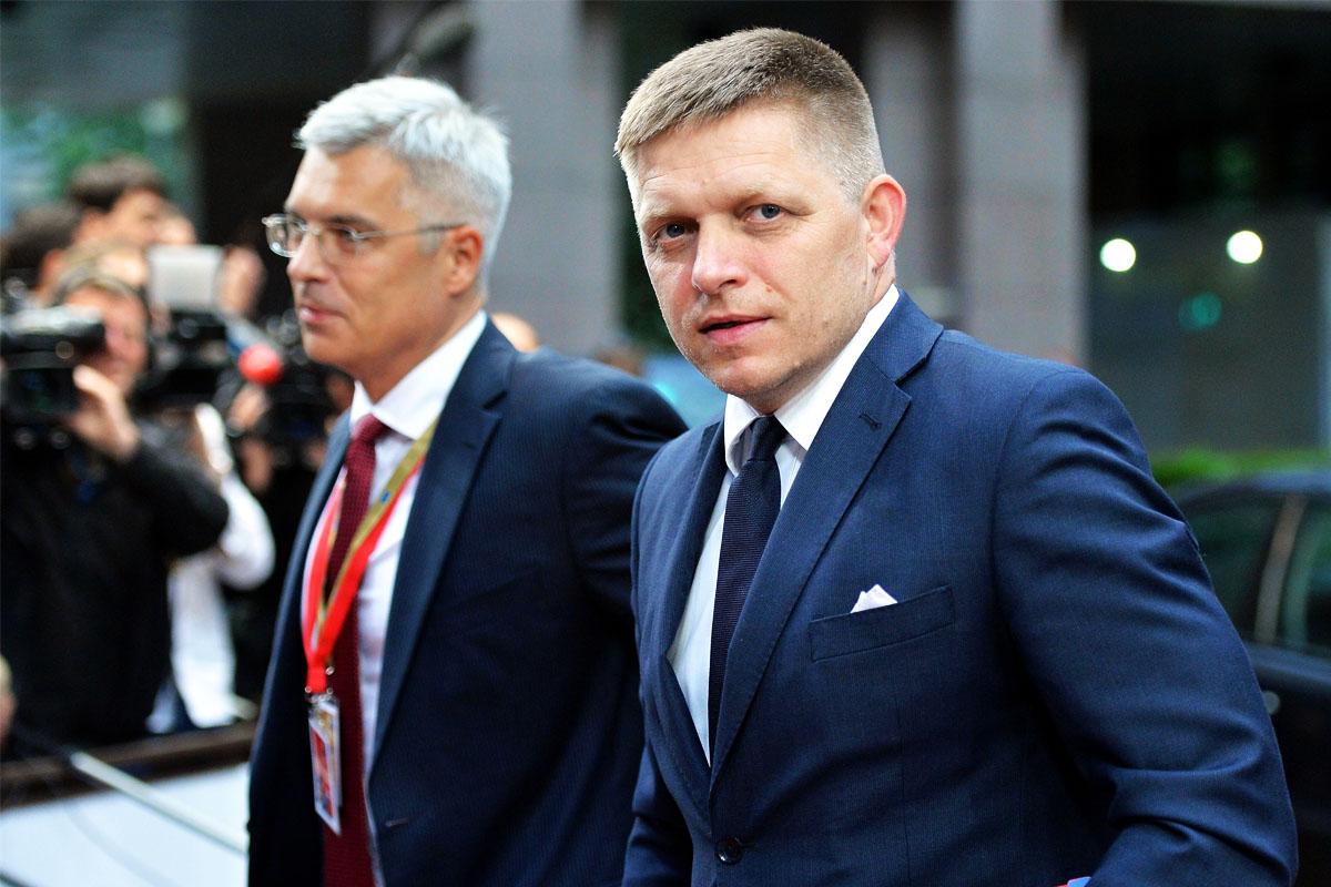El primer ministro eslovaco en Bruselas. (Foto: Gertty)