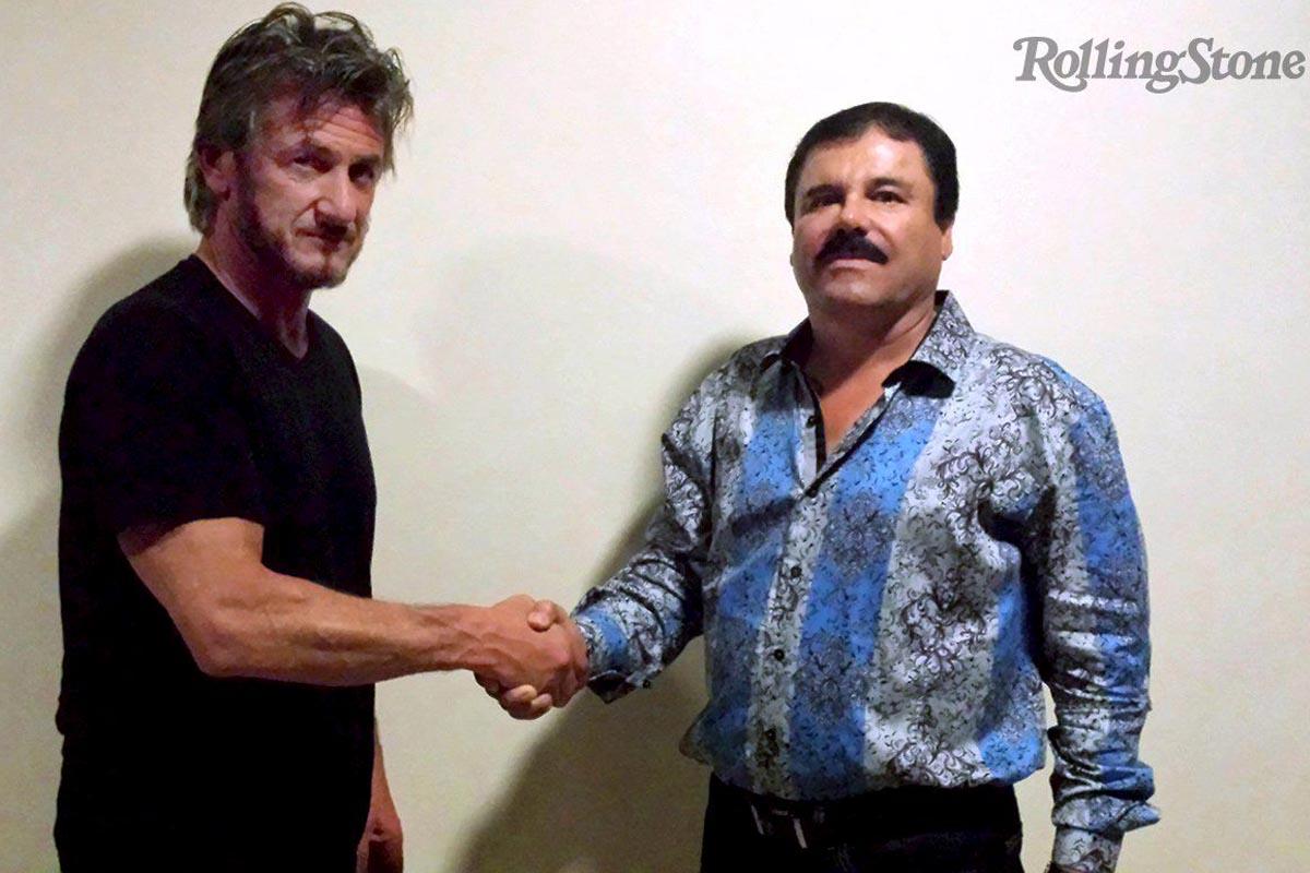 Sean Penn, con 'El Chapo' Guzmán en la imagen publicada por Rolling Stone