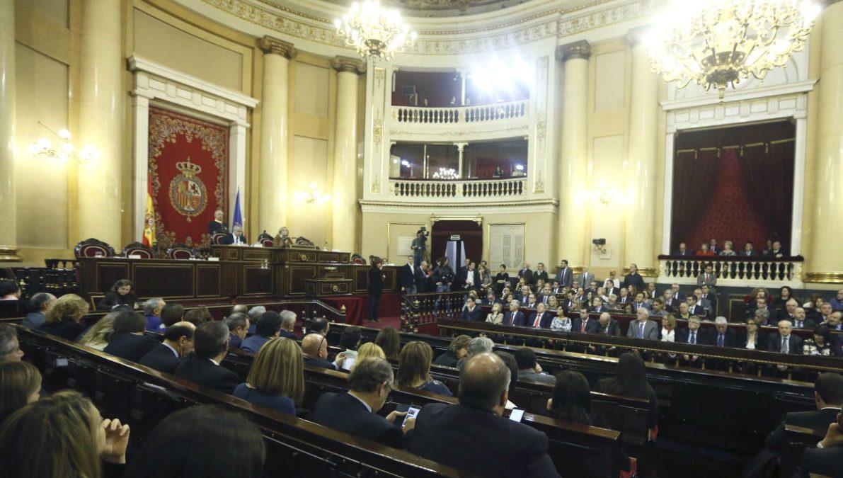 Comienzo de la legislatura en el Senado. (Foto: EFE)