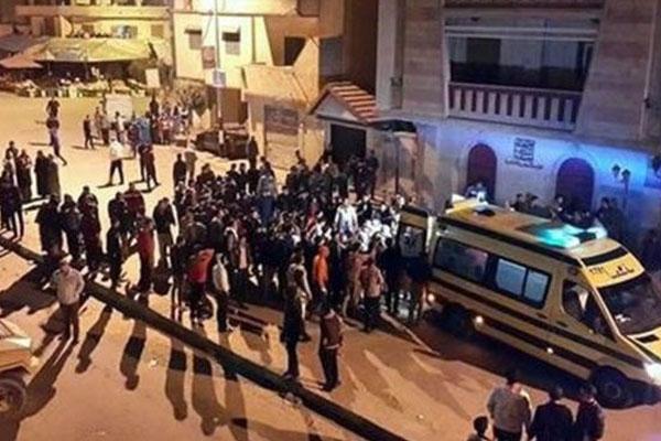 Imagen de los ataques en un puesto de control en el Sinaí