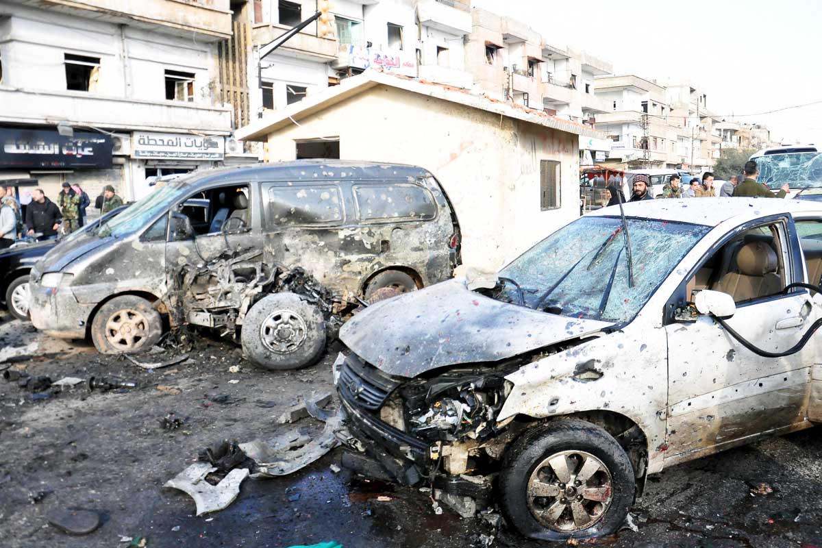 Así quedó el puesto de seguridad tras  el ataque del Estado Islámico (Foto: Reuters)