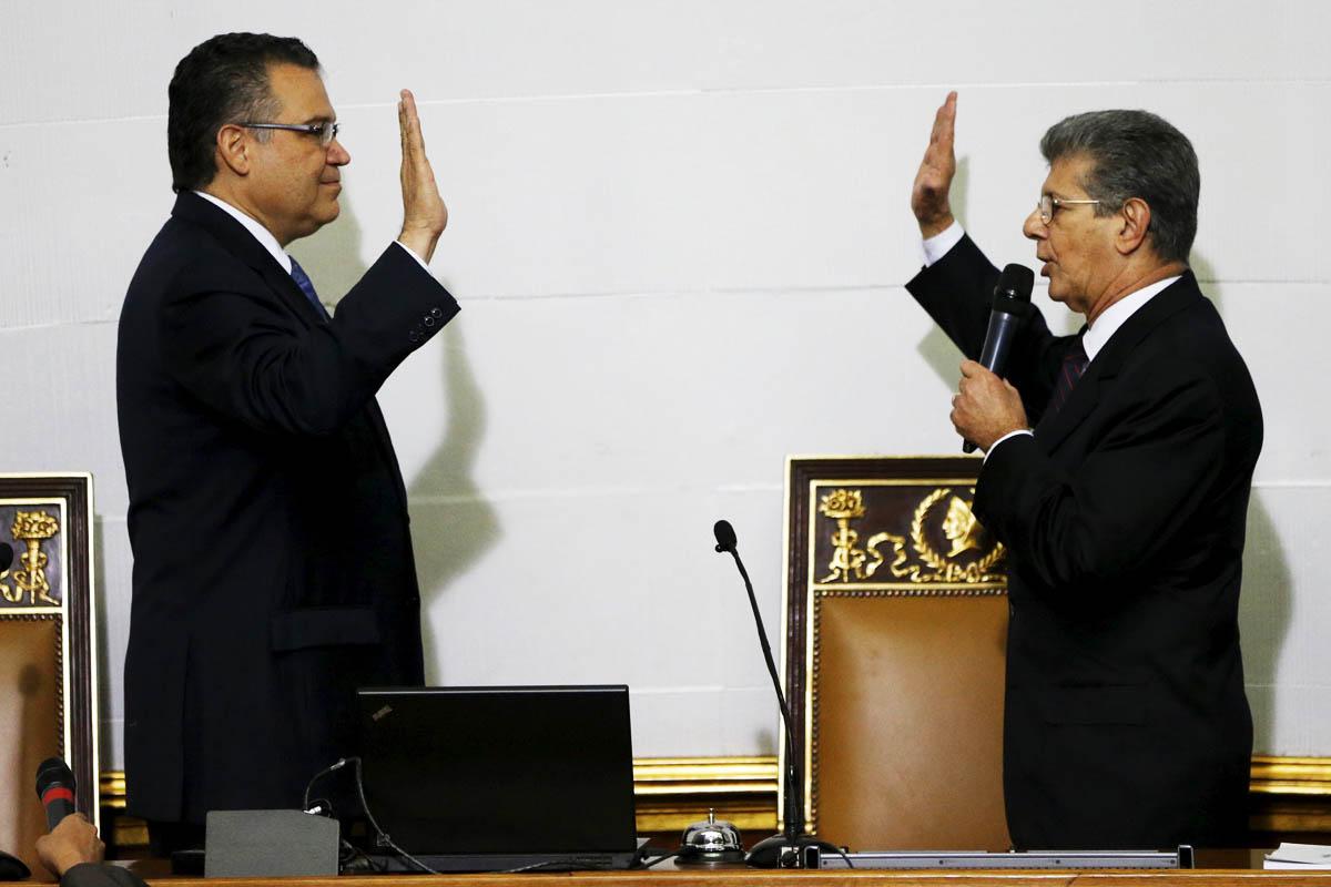 Ramos Allup toma posesión de su nuevo cargo (Foto: Reuters)