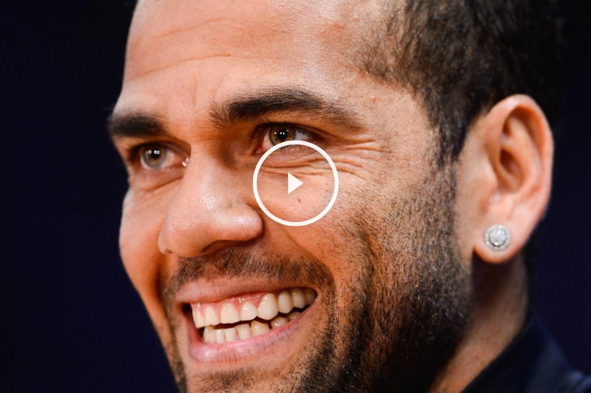 Dani Alves habló de sus polémicas palabras contra la prensa. (Getty)
