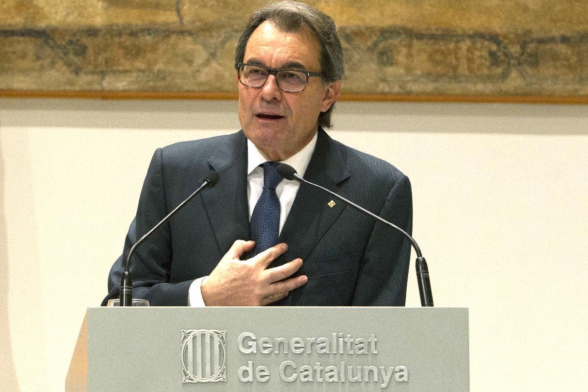 Artur Mas en rueda de prensa (Foto: Efe).