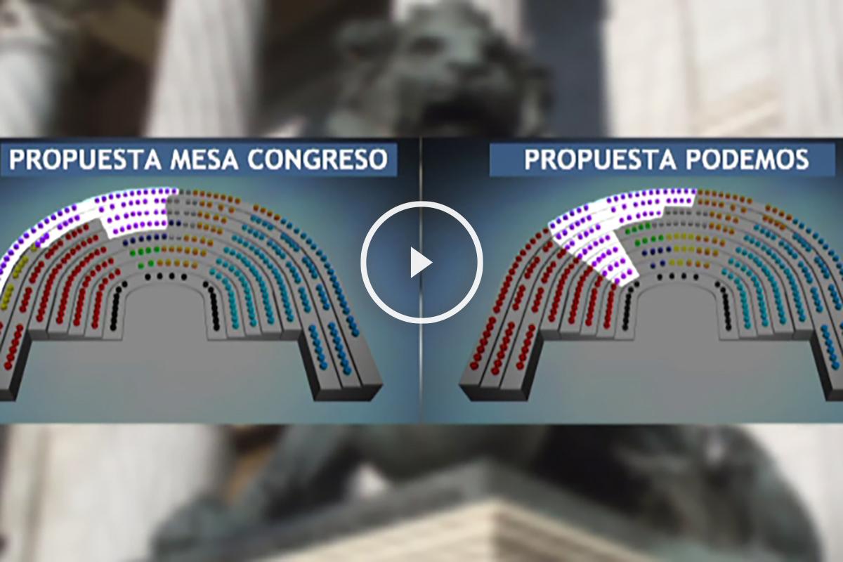 Propuesta de Podemos sobre la distribución de escaños.